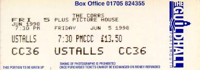 Corrs Ticket